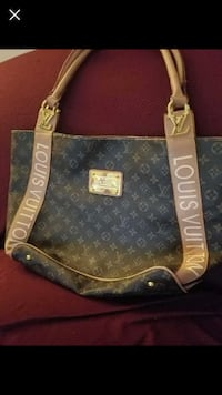 brown Louis Vuitton Monogram leather tote bag 354 mi