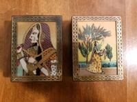 2 beautifully done brass inlaid boxes $10 each Victoria, V9A 6A6