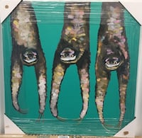'Sloth Hanging Out on Bright Teal' by Eli Halpin Graphic Art on Canvas Richmond Hill, L4B 4T9
