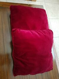 Two burgundy couch pillows Santee