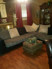 brown and black sectional couch North Augusta, 29860