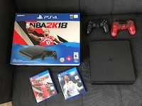 Playstation 4 Slim + Warranty + Games + 2 controllers