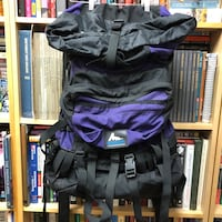 Gregory Hiking Backpack Purple Black