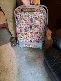 Fun patterned rolling suitcase