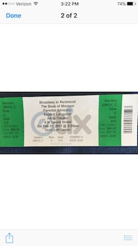2 tix for this weekend  Leesburg, 20176