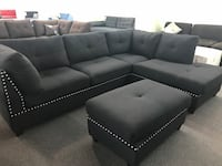 New black sectional couch  2277 mi