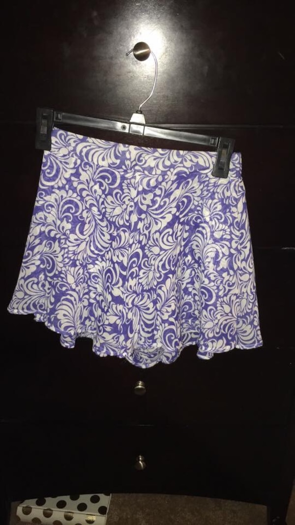 67c217f6a6 Used purple and white floral mini skirt for sale in Metter - letgo