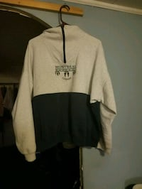 white and black pullover hoodie