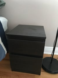 black wooden 2-drawer nightstand Bergenfield, 07621