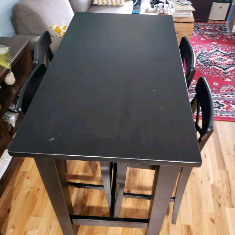 IKEA bar high dinning table and 4 chairs