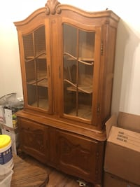 China cabinet and matching linen cabinet  Omaha, 68116