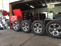 We Sell a Full Set Of Four Used Tires And Wheels 255/65R17 Beaumont, 92223