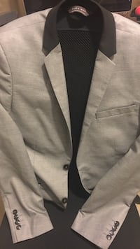 Zara men's gray suit with black trim Manassas, 20111