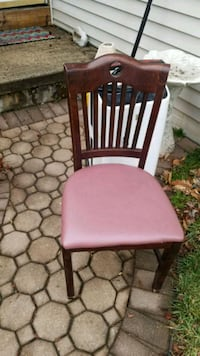 two brown wooden framed pink padded chairs Princeton, 08540