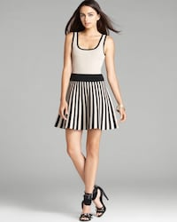 Guess Tan/Black Skater Sweater Dress Burnaby, V5A