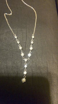 sterling silver chained necklace