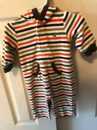 Baby Gap, Sz 3-6 Months- Hooded Jumper, Stripes with Front pocket Baltimore, 21128