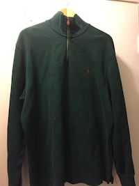 black Ralph Lauren zip-up jacket
