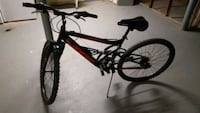 black and red full suspension mountain bike Temple Hills, 20748