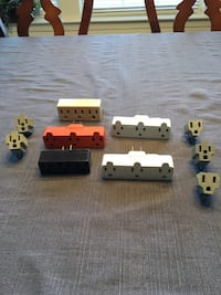 Electric outlet adapters, lot of 10, new or excellent condition