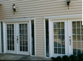 Two Sets of Exterior French Doors