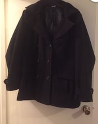 Plus size peacoat with hood
