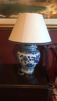 white and blue floral table lamp Alexandria, 22309