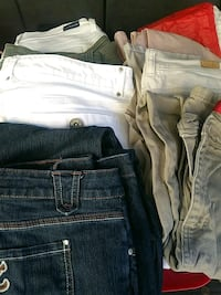 11 pairs of pants size 14 Fairfield