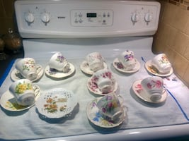 England Flower   of the months Tea cup and saucer