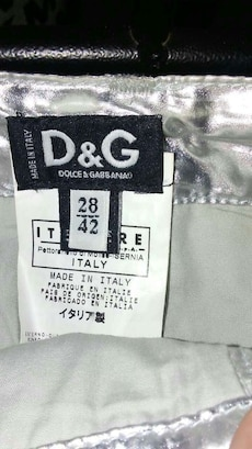 Dolce & Gabbana product label