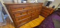 REAL WOOD DRESSER & NIGHTSTAND