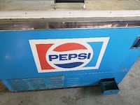 blue and white Pepsi-Cola commercial refrigerator VANCOUVER