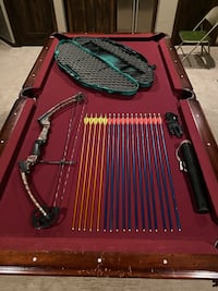 Genesis bow, case, holster, glove, and 17 arrows.