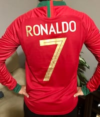 Ronaldo Portugal Home Long Sleeve Jersey Knoxville, 37918