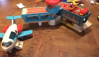 Vintage Fisher price airport including jet fuel car, airplane and wooden man(very old). $25 for thé set. Vintage large airplane from 1972 is $15. Serious only please. Vaughan, L4J 5L7