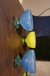 two blue and green ceramic bowls Bakersfield, 93306