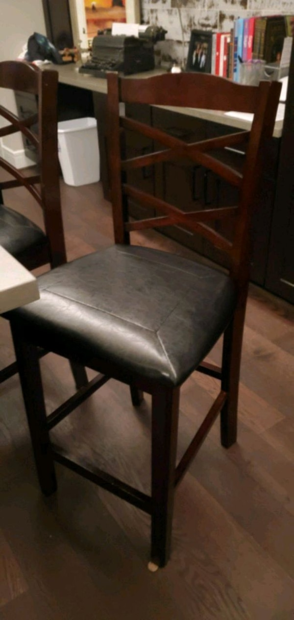 Miraculous Lenox Leather And Wood Bar Height Chairs Pdpeps Interior Chair Design Pdpepsorg