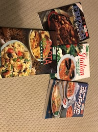 four assorted cookbooks $10 for all
