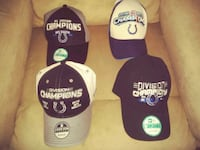 Colts championship hats. 2010 & 2014 South Bend, 46615