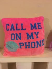 pink and blue Call Me On My Phone printed throw pillow St. Louis, 63123