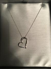 3 diamond, sterling silver, Zales heart necklace Billings, 59102