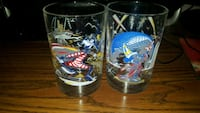 Disney World 25th Anniversary Glasses Mickey Goofy Laval, H7W 4C6