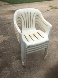 white and gray plastic armchair Bixby, 74133