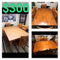 Dining Room Table with built in leaf and 6 chairs and Protective Pad Cover  Lorton, 22079