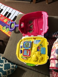toddler's pink and purple Vtech learning toy East Patchogue, 11772