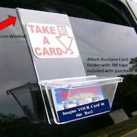 Vehicle Business Card Holder FREE Advertising!