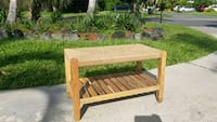 Jute Rope and Wood Entry Bench Boca Raton, 33431
