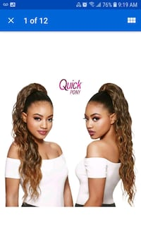 ponytail  hair extension black brown Port Coquitlam, V3B