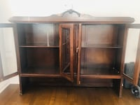 Rare antique cherrywood china cabinet in good condition