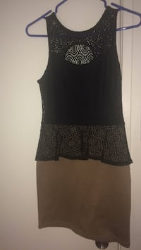Women's black and brown sleeveless dress Ottawa, K2C 0R9